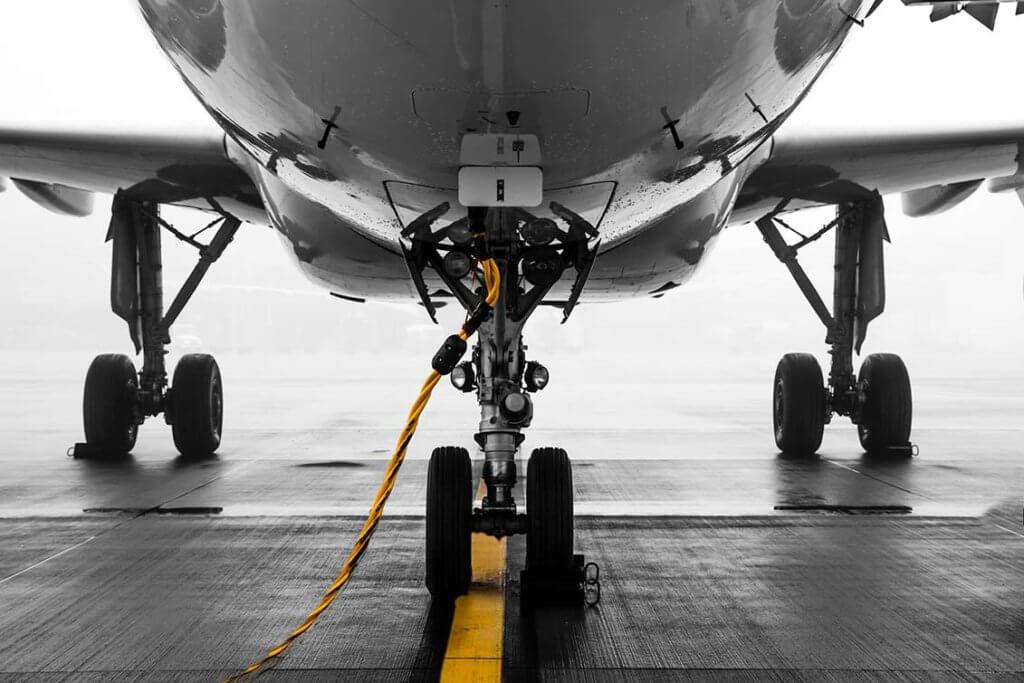 Ausschnitt eines Business Jets