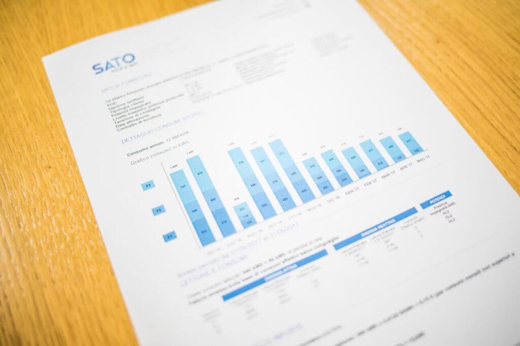 Gaspreisvergleich für Gewerbe auf dem Papier